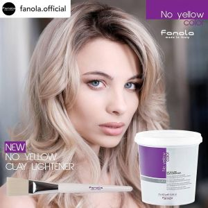 FANOLA NO YELLOW Rozjaśniacz z glinką 2 x 450g Clay lightening powder for balayage