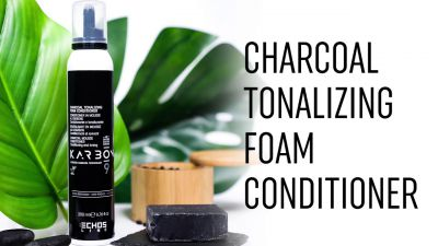 ECHOS KARBON Charcoal tonalizing foam conditioner Tonująca odżywka w piance 200ml